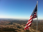 American Flag Atop AMountain