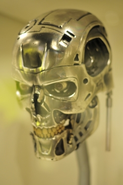 The metallic skull of the Terminator