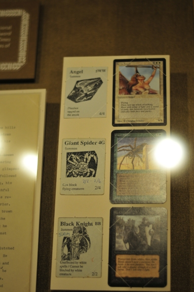 Original cards from Magic: The Gathering side-by-side with the playtesting versions