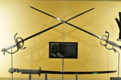 Inigo's and the Six-Fingered Man's swords from The Princess Bride (above), and Christopher Lambert's sword from Highlander (below)