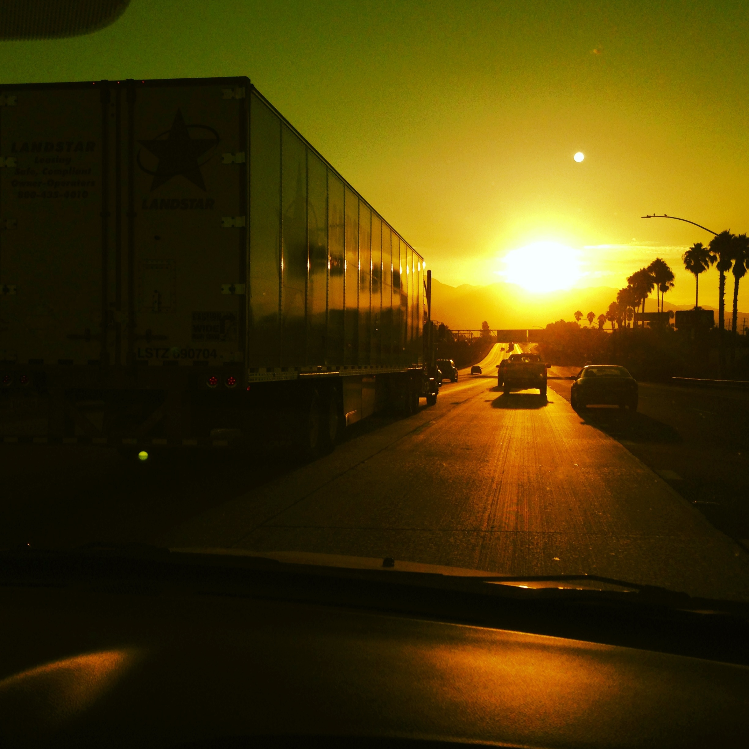 Morning Sun on the Highway