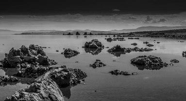 Mono Lake Rocks B&W