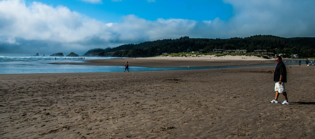 Walking at Cannon Beach