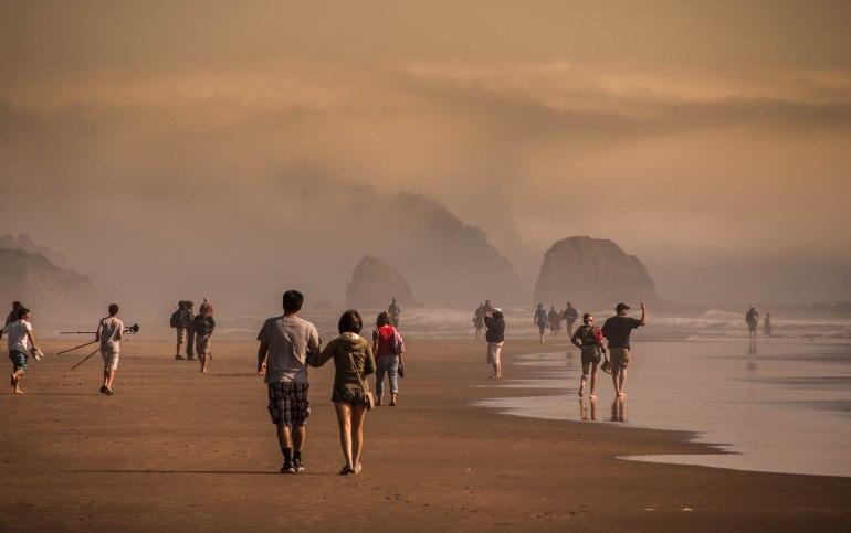 Foggy Cannon Beach Walk