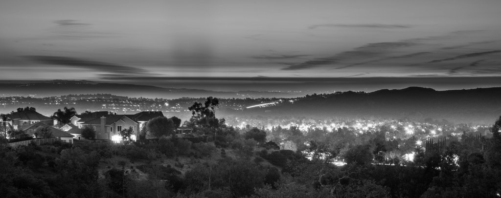 Hazy Sunset, Black and White