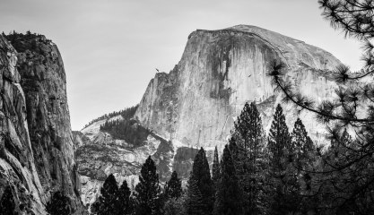 Half Dome in the distance