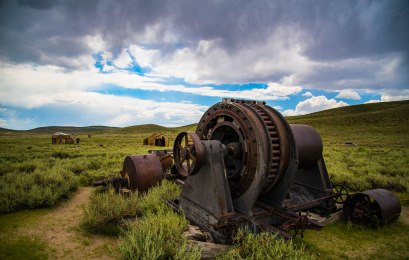 Abandoned machinery at Bodie State Historic Park, CA.