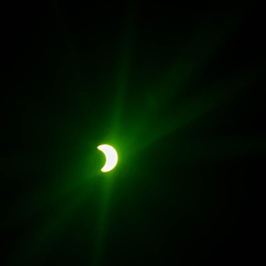 A partial solar eclipse.