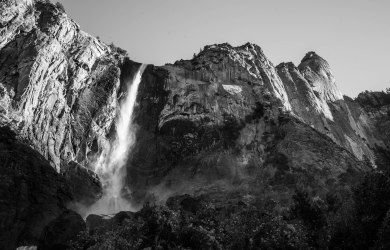 Bridalveil Falls, Yosemite in the early morning.
