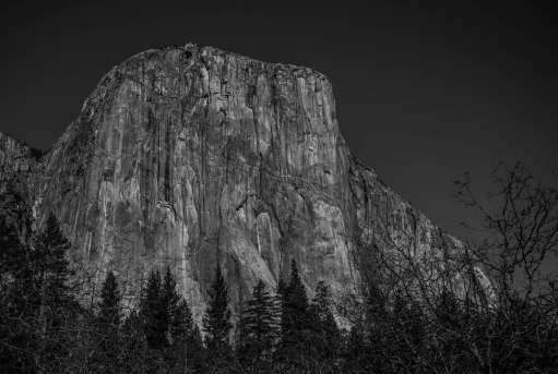 El Capitan as seen from the meadows between it and Bridalveil Falls.