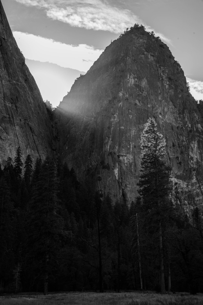 God ray in the late afternoon in Yosemite.