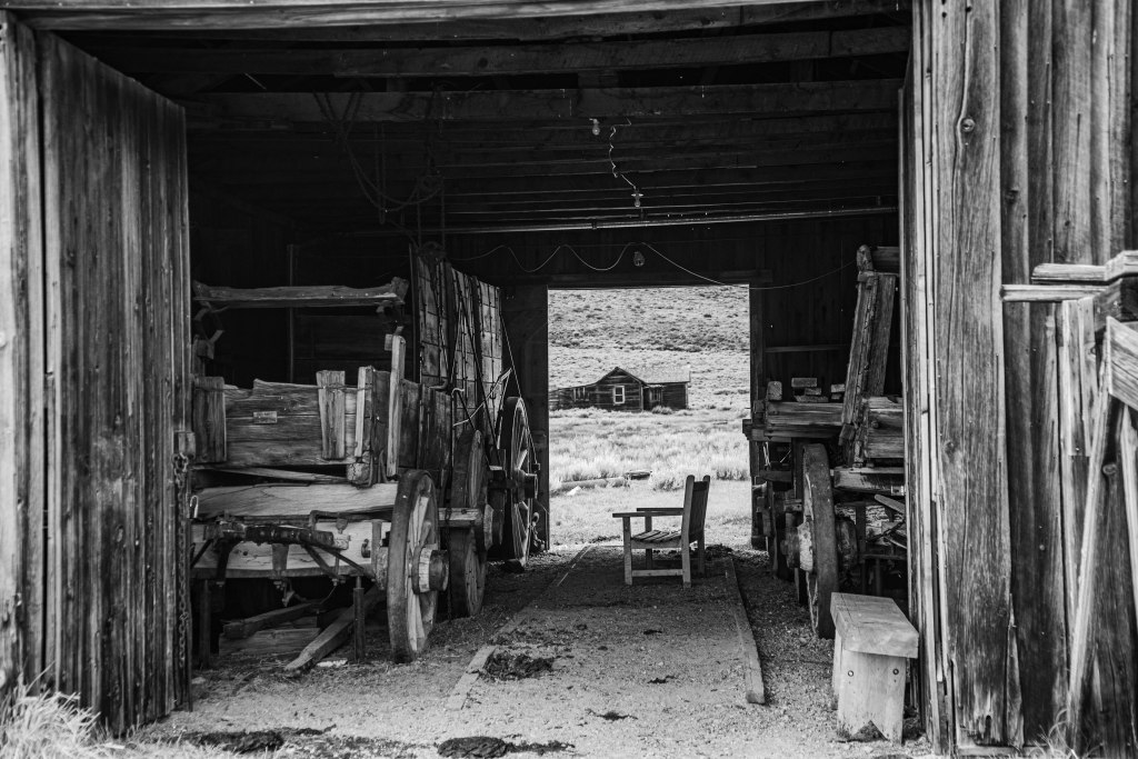 County Barn in Bodie State Park, interior.