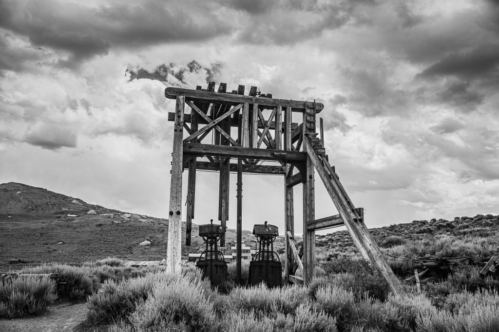 Head frame in Bodie, CA.