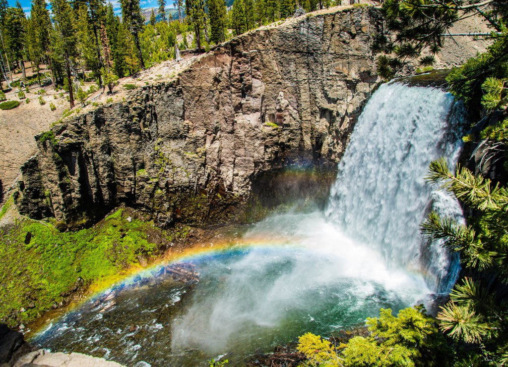 Rainbow Falls in Mammoth, CA.
